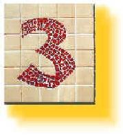 Hausnummer gestaltet von  Laura und Ralf Schmidt
